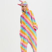 Rainbow Unicon Onesie Kigurumi Pajamas Cosplay Costume for Unisex Adult