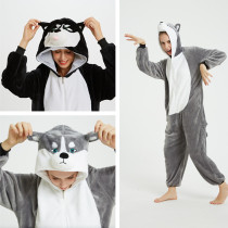 Husky Dog Onesie Kigurumi Pajamas Cosplay Costume for Unisex Adult