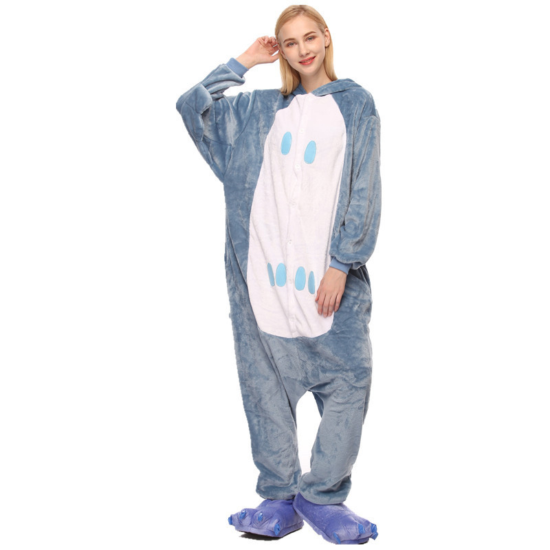 Blue Owl Onesie Kigurumi Pajamas Cosplay Costume for Unisex Adult