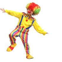 Clown Performance Costume Rainbow Stripes Jumpsuit