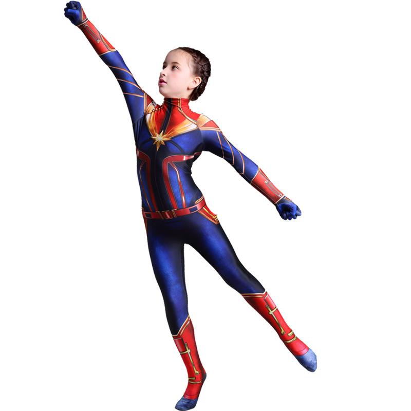 Tights Captain Marvel Jumpsuit Halloween Performance Costume Cosplay Suit