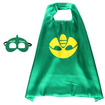 Peter Pan Halloween Costumes Cosplay Cloak Double Sided Satin Capes with Felt Masks for Kids