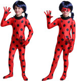 Tights Ladybug Jumpsuit Halloween Performance Costume With Mask and Bag