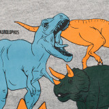 Toddler Boy Print Dinosaurs Long Sleeves Tee
