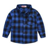 Boys Plaid Cotton Long Sleeves Shirt