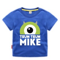 Boys Print Monster with One Eye Cotton T-shirt