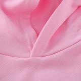 Girl Print Pink Panther Cotton Hooded Sweatshirts