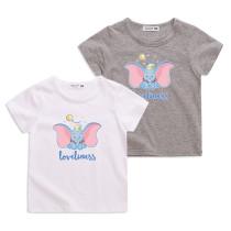 Boys Print Dumbo Flying Elephant Cotton T-shirt