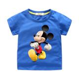 Boys Print Mickey Mouse Cotton T-shirt