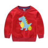 Boy Print Cute Dinosaur Cotton Sweatshirts