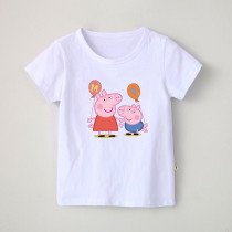 Boys Print Cartoon Peppa Pig Cotton T-shirt