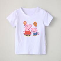 Boys Print Cartoon Peppa Pig Cotton T-shirt