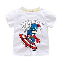 Boys Print Slogan Captain America Cotton T-shirt