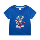 Boys Print Captain America Cotton T-shirt