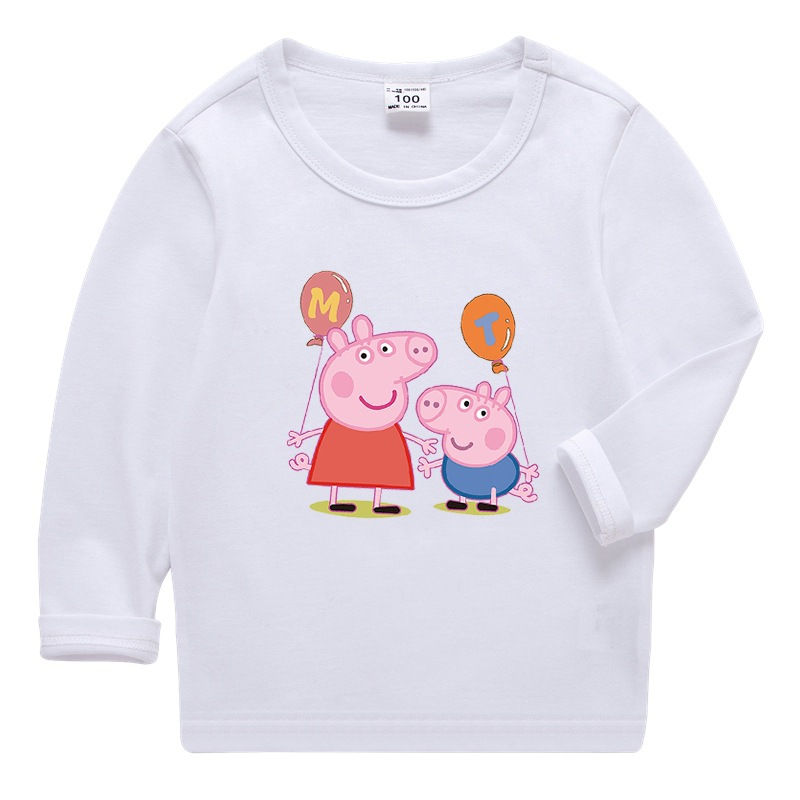 Boys Print Peppa Pig Cotton T-shirt