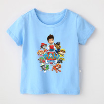 Boys Print Cartoon PAW Patrol T-shirt