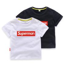 Toddler Kids Boy Print Superman Cotton T-shirt