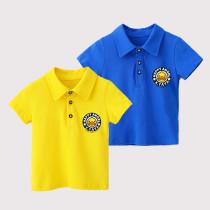 Boys Print Duck Cotton Polo T-shirt