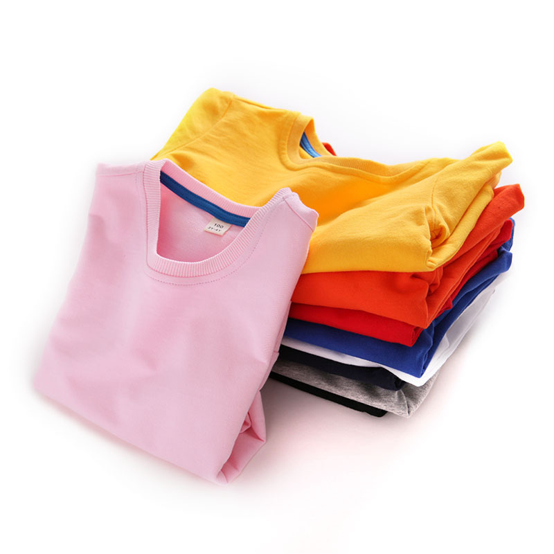 Toddlers Pure Color Cotton Sweatshirts For Kids