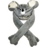 Grey Koala Funny Animal Movable Ears Jumping Soft Plush Hat