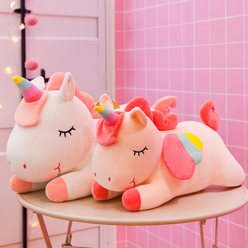 Angel Unicon Soft Stuffed Plush Animal Doll Pillow for Kids Gift