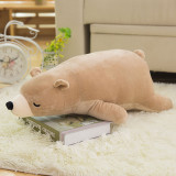 White Bear Soft Stuffed Plush Animal Doll Pillow for Kids Gift