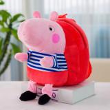 Peppa Pig Plush Kindergarten School Backpack Bags for Toddlers Kids