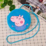 Peppa Pig Plush Circle Crossbody Shoulder Bags for Toddlers Kids