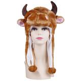 Cow Warm Crozy Soft Plush Hat Winer Ear Flap Beanie For Kids