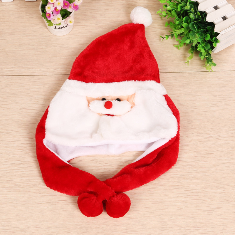 Christmas Warm Crozy Soft Plush Hat Winer Ear Flap Beanie For Kids