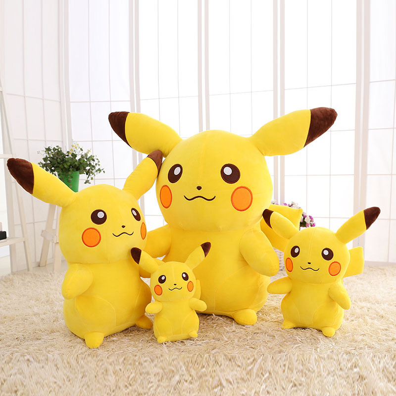 Yellow Pikachu Pokemon Soft Stuffed Plush Animal Doll for Kids Gift