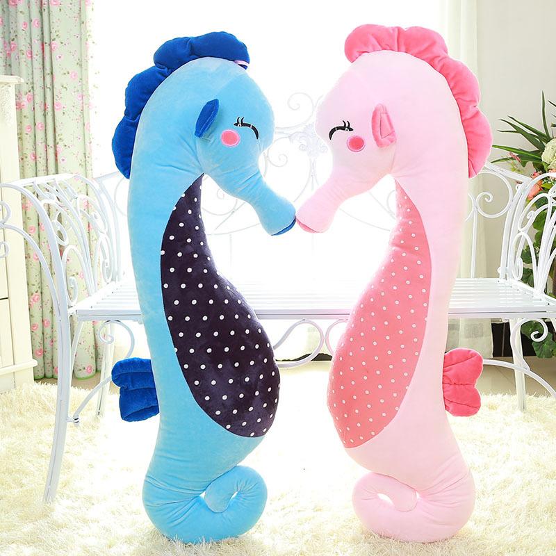 A Couple Sea Horses Soft Stuffed Plush Animal Doll for Kids Gift