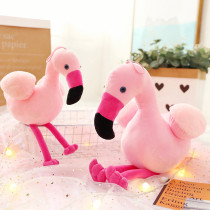 Pink Flamingo Soft Stuffed Plush Animal Doll for Kids Gift