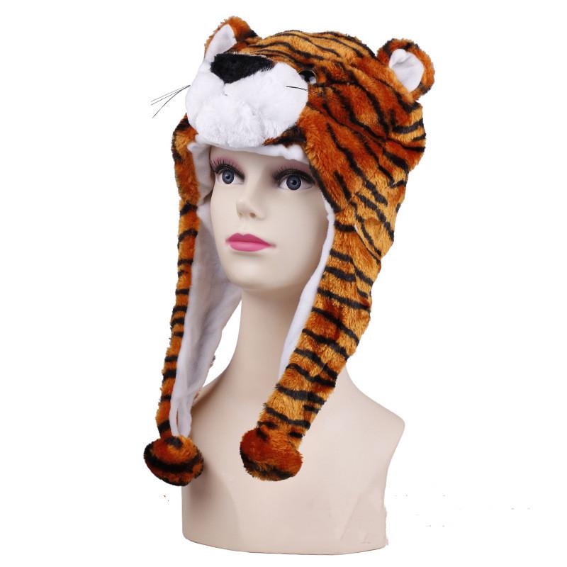 Tiger Ear Warm Crozy Soft Plush Hat Winer Flap Beanie For Kids