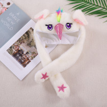 Unicon Funny Animal Movable Ears Jumping Soft Plush Hat