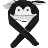 Penguin Funny Animal Movable Ears Jumping Soft Plush Hat