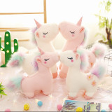Rainbow Unicon Flowers Soft Stuffed Plush Animal Doll for Kids Gift