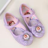 Kid Girls Sequins Sophia Princess Bowknot Flat Dress Shoes