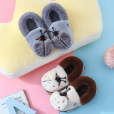 Toddlers Kids Ladybug Flannel Warm Winter Home House Slippers