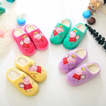 Toddlers Kids Embroidered Angel Peppa Pig Warm Winter Home House Slippers