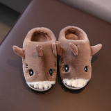 Toddlers Kids 3D Shark Flannel Warm Winter Home House Slippers