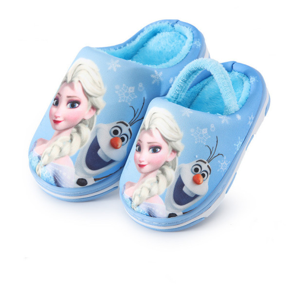 Toddlers Kids Frozen Elsa Princess Flannel Warm Winter Home House Slippers