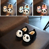 Toddlers Kids Panda Flannel Warm Winter Home House Slippers Shoes