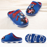 Toddlers Kids Marvel Captain America Iron Man Warm Winter Home House Slippers