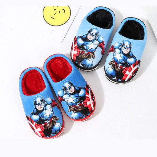 Toddlers Kids Captain America Flannel Warm Winter Home House Slippers