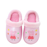 Toddlers Kids PU Peppa Pig Warm Winter Home House Slippers