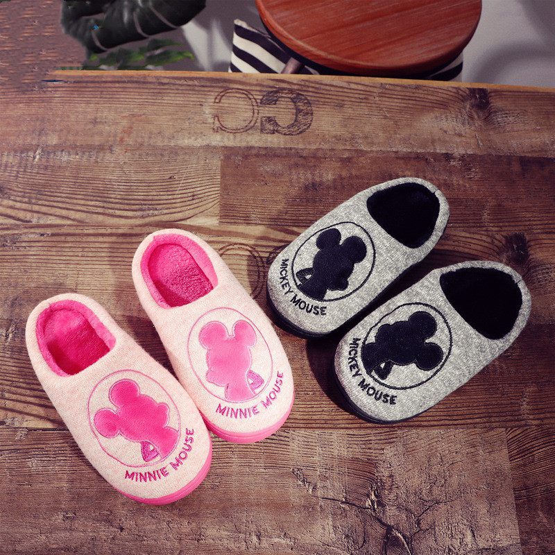 Toddlers Kids Mickey Minney Warm Winter Home House Slippers