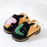 Toddlers Kids Embroidered Peppa Pig Cute Animals Warm Winter Home House Slippers