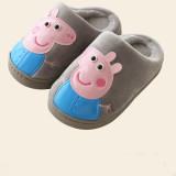 Toddlers Kids PU Peppa Pig Flannel Warm Winter Home House Slippers