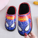 Toddlers Kids PU Spider Man Warm Winter Home House Slippers